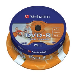 DVD-R 4,7/120 16x spindl printable ...